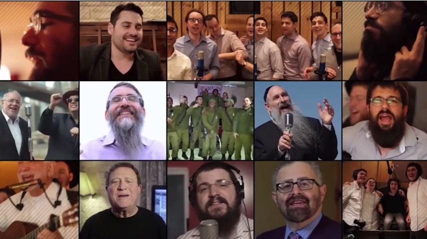 מרגש במיוחד: צפו בכל גדולי הזמר היהודי שרים עם איצי הורביץ החולה בניוון שרירים 3