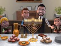 מיכה גמרמן בקליפ אנימציה לחנוכה • צפו