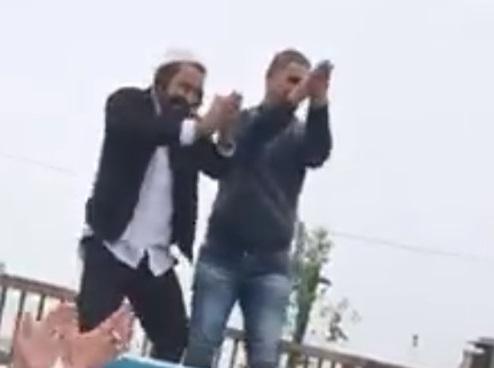 בלב חברון: חסיד ברסלב רקד עם פלסטיני על גג הרכב 3