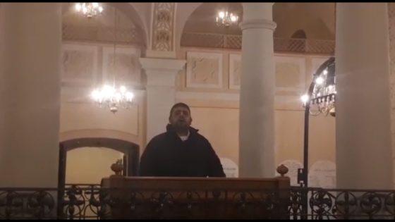 לכבוד ראש חודש: החזן ביצע את ברכת החודש בבית הכנסת העתיק 1